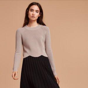 Aritzia Wilfred Grey Sardou Sweater Small